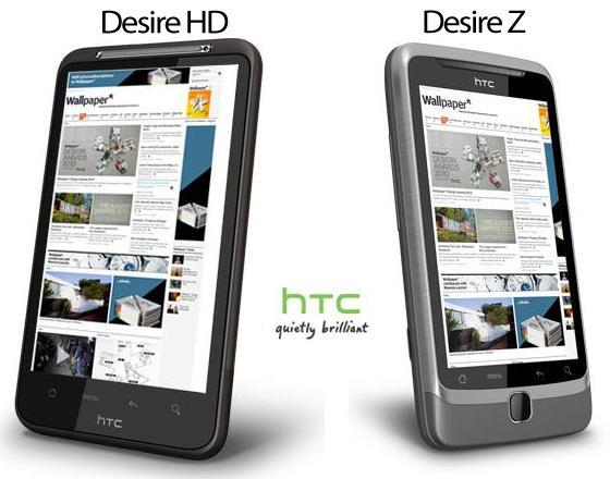 HTC Desire HD and HTC Desire Z