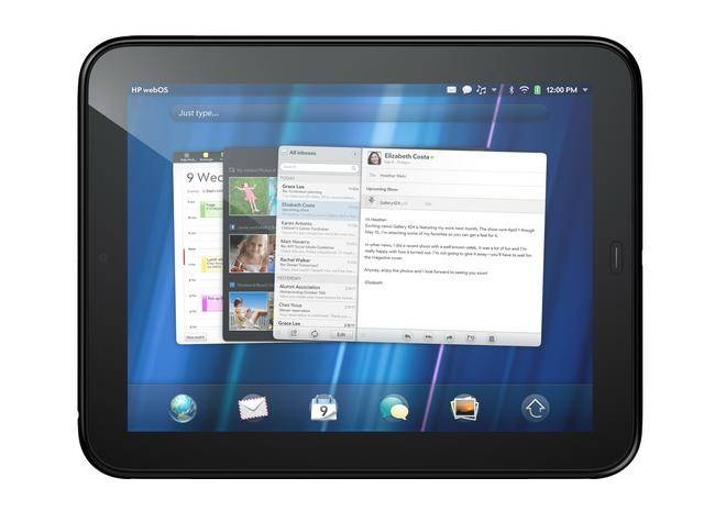 HP TouchPad Horizontal