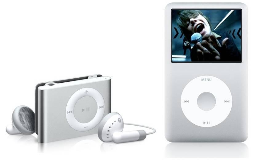 Apple iPod Shuffle and Classic