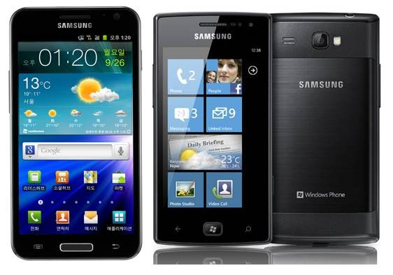 Samsung Galaxy S HD LTE and Omnia W