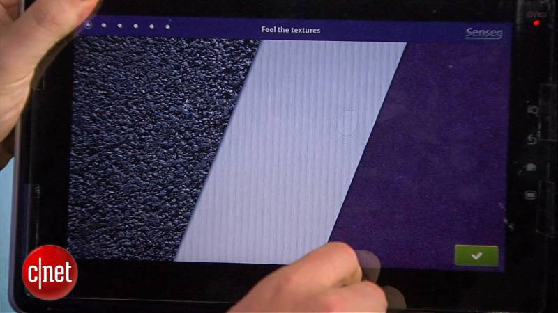 Senseg tactile display