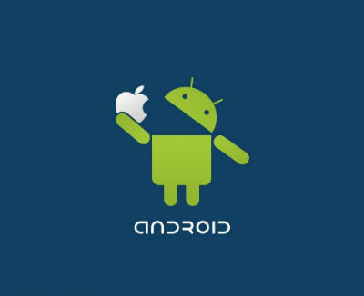 Android Eating an Apple