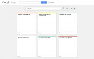 Google Keep Web