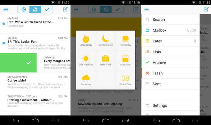 Dropbox Mailbox Android