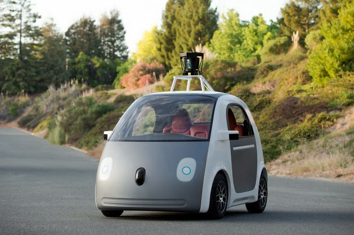 Google No Steering Wheel Car