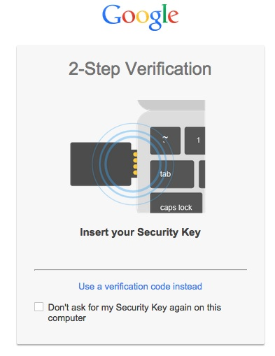 Google 2 Step Verification USB