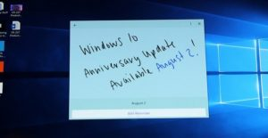 Windows 10 anniversary update is coming on August 2