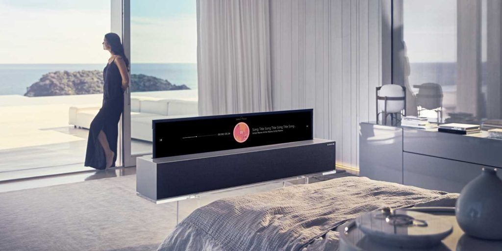 LG Rollable TV CES 2019