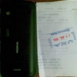 Nokia C6 back and bill