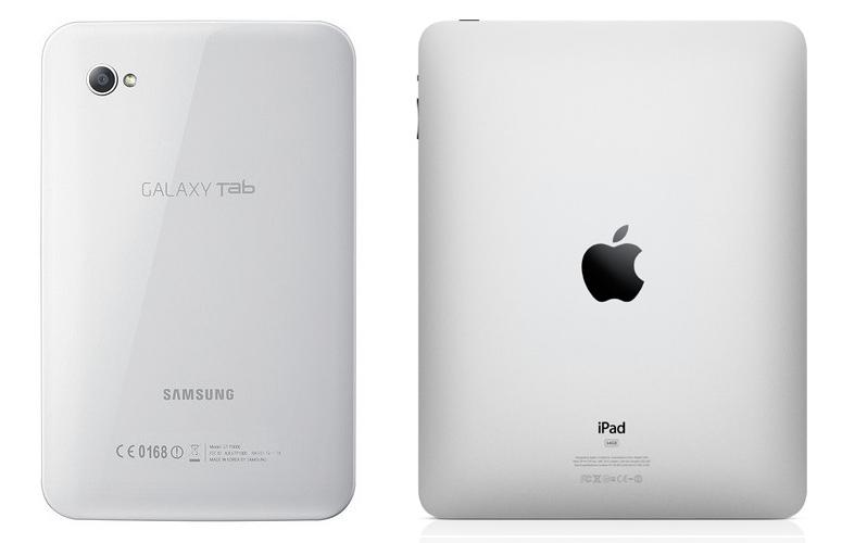 Samsung Galaxy Tablet and Apple iPad