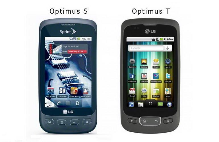 LG Optimus S and Optimus T