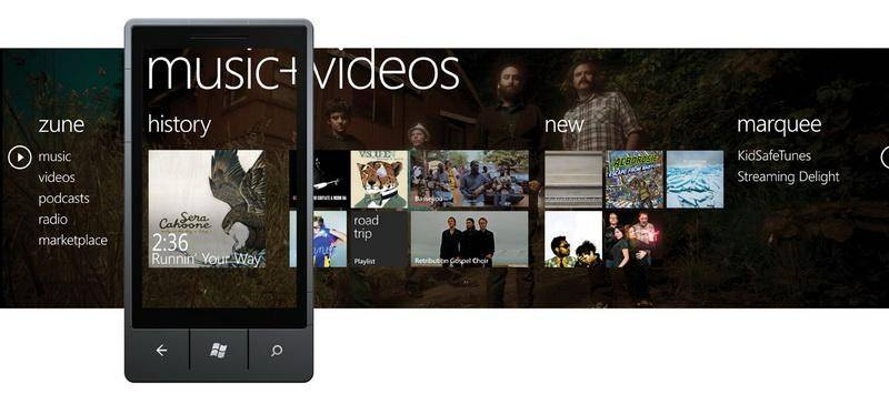 Windows Phone 7 Music and Video Hub