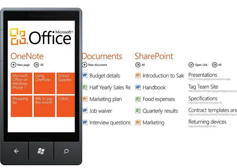 Windows Phone 7 Office Hub