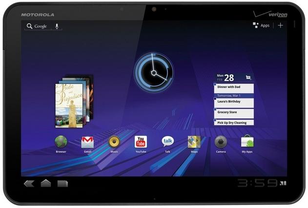 Motorola Xoom Mainscreen