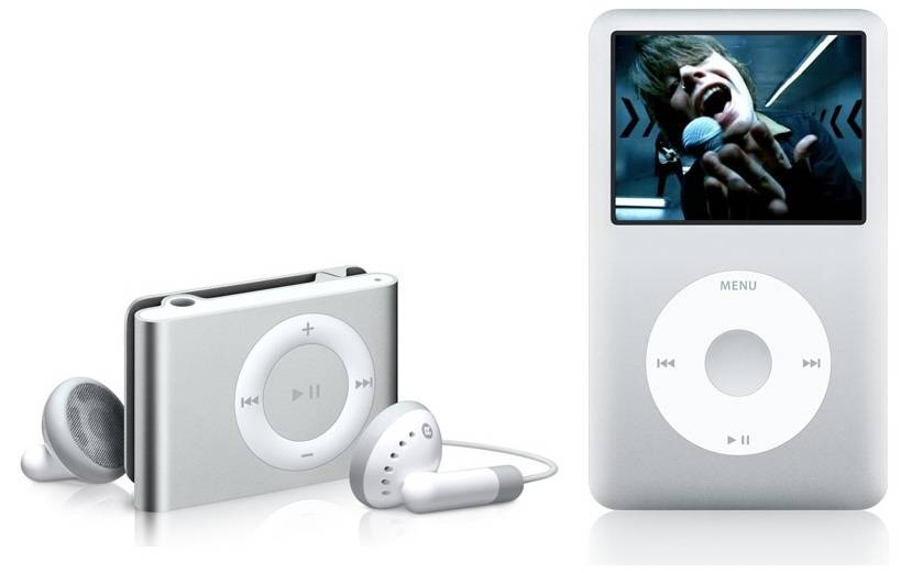 Apple iPod Shuffle and Classic