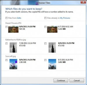 Microsoft Windows 8 Conflict File Box