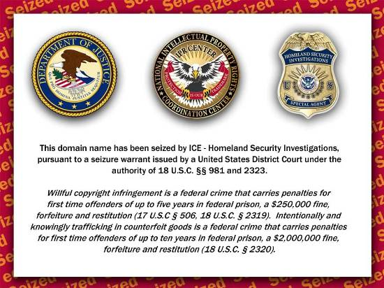 DHS Shut Down Blog For A Year On False Pretenses 130 Domains Seized