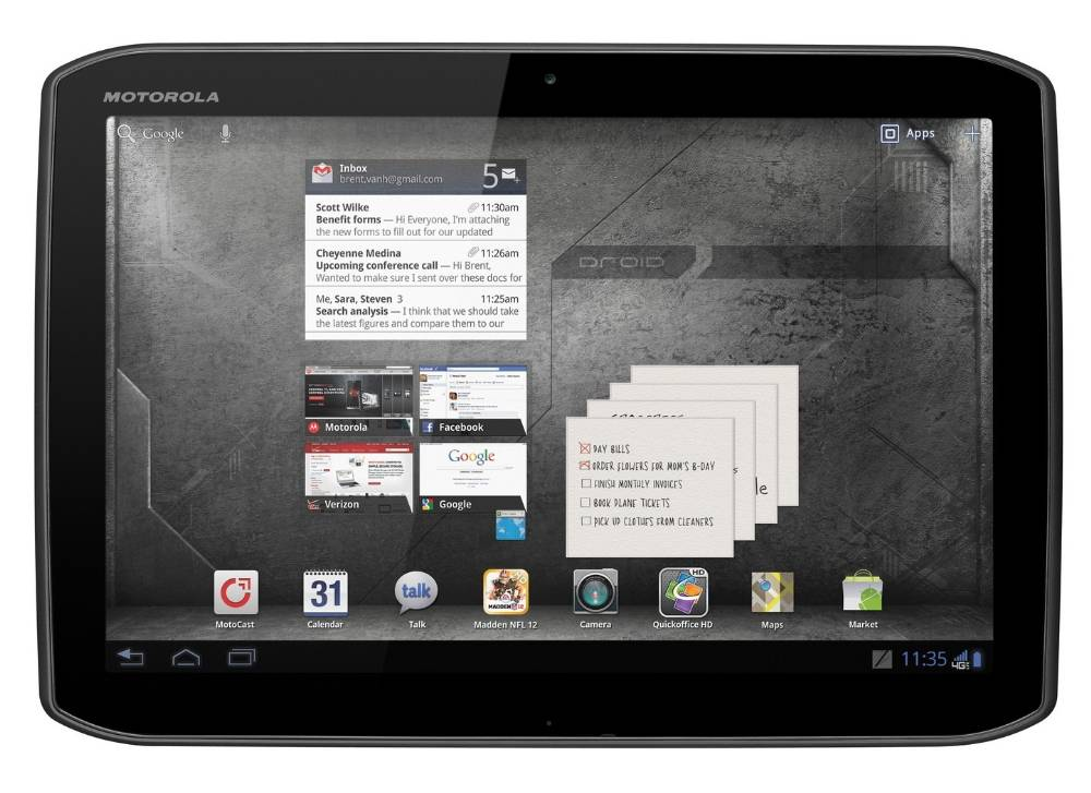 Motorola DROID XYBOARD Tablet