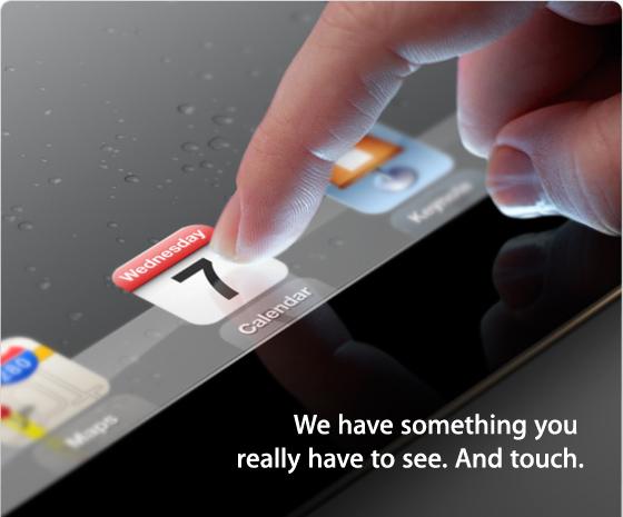 Apple iPad 3 Event Invite